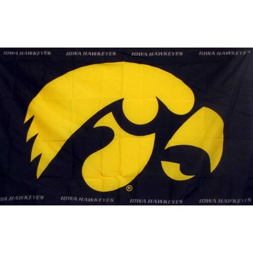 Iowa Hawkeyes Polyesterd 3 x 5 ft. Flag by NeoPlex