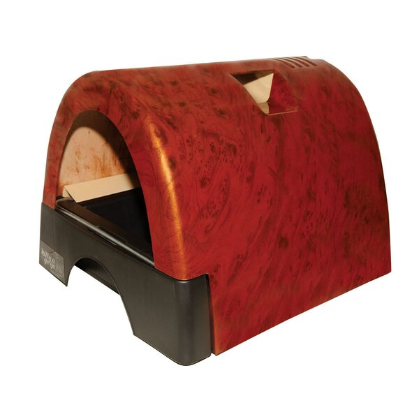 Designer Cat Litter Box with Burl Wood Cover by Kittyagogo