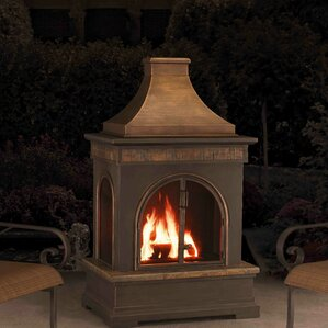 Hardy Slate Steel Wood Burning Outdoor Fireplace