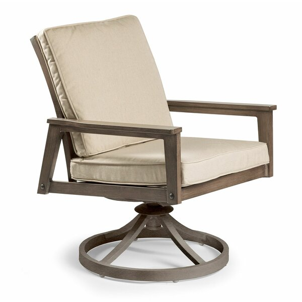 Horizon Swivel Patio Dining Chair with Cushion by Eddie Bauer Eddie Bauer
