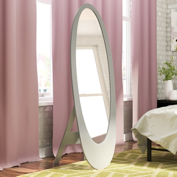 Trigg Contemporary Oval Cheval Mirror by Wade Logan