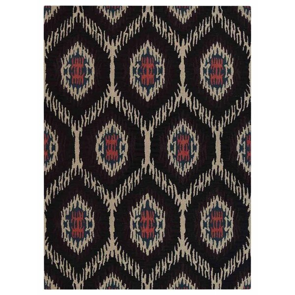 Crayton Hand-Tufted Wool/Cotton Brown/Beige Area Rug by Bungalow Rose