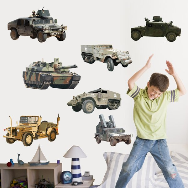 Military Ground Vehicle Multi-Pack Cutout Wall Decal by Wallhogs