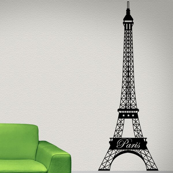 style and apply paris eiffel tower wall decal | wayfair