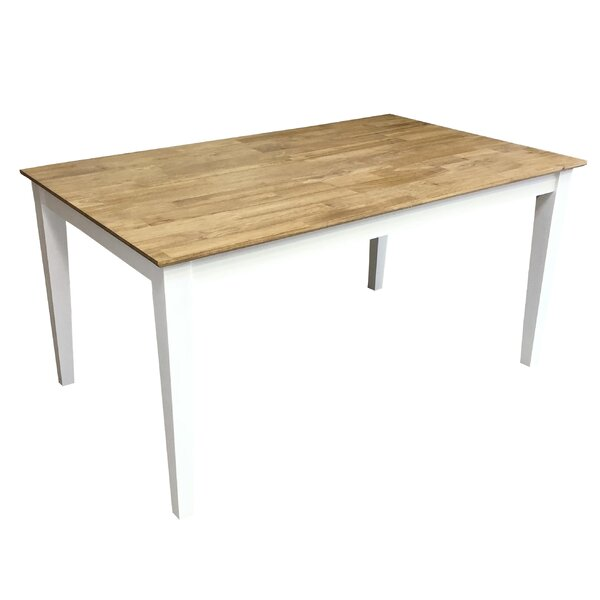 Dette Solid Wood Dining Table by August Grove August Grove