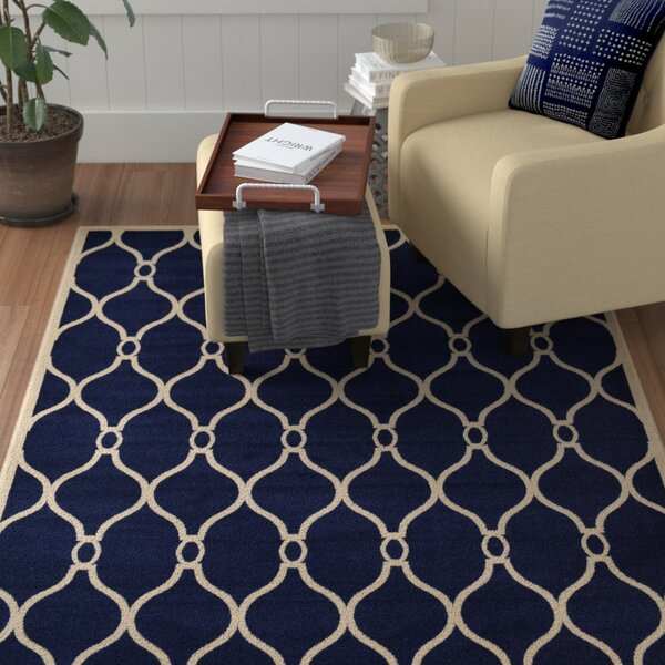 Molly Navy Blue Area Rug by Winston Porter
