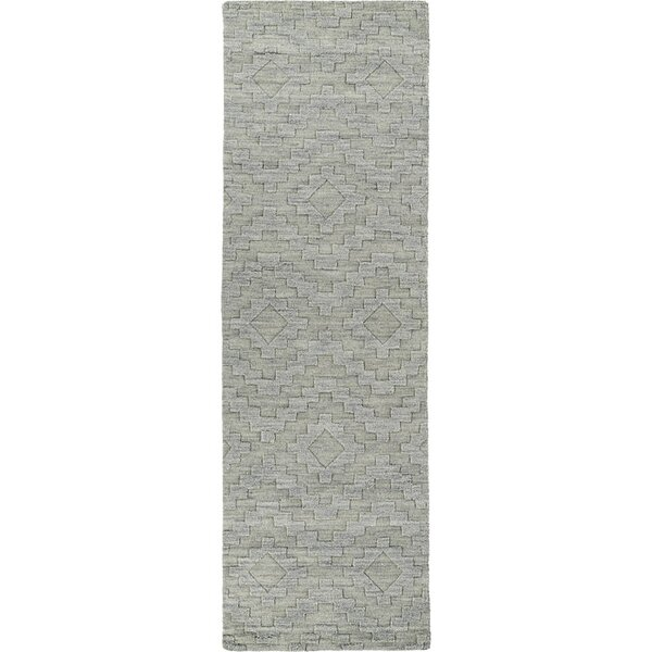 Dobson Hand-Tufted Gray Wool Area Rug by Ebern Designs