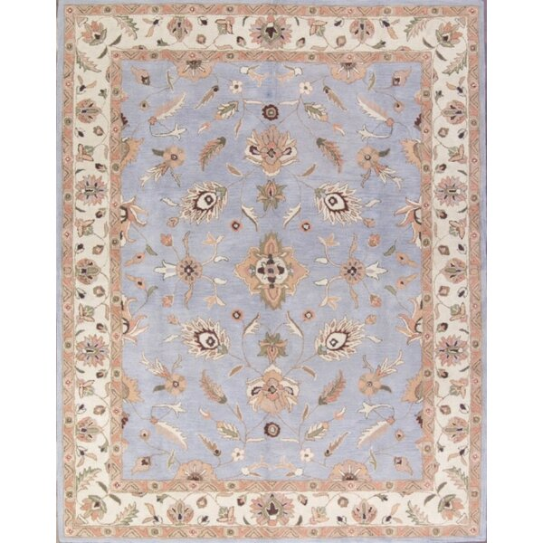 Beery Agra Oriental Hand-Tufted Wool Brown/Blue Area Rug by Bloomsbury Market