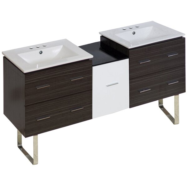 Kyra 62 Double Bathroom Vanity by Orren Ellis