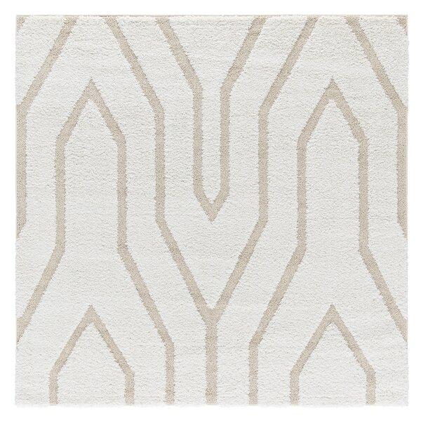 Artz White/Beige Lines Area Rug by Brayden Studio
