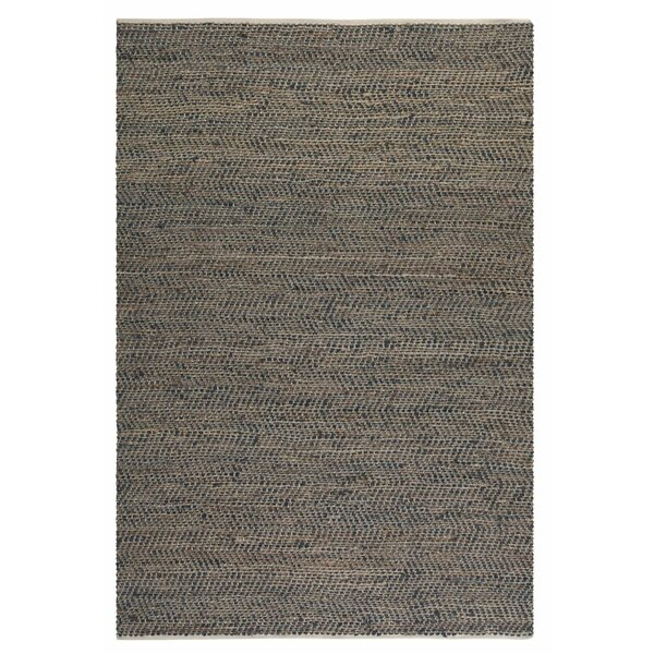Neidig Hand Woven Leather Rug by Brayden Studio