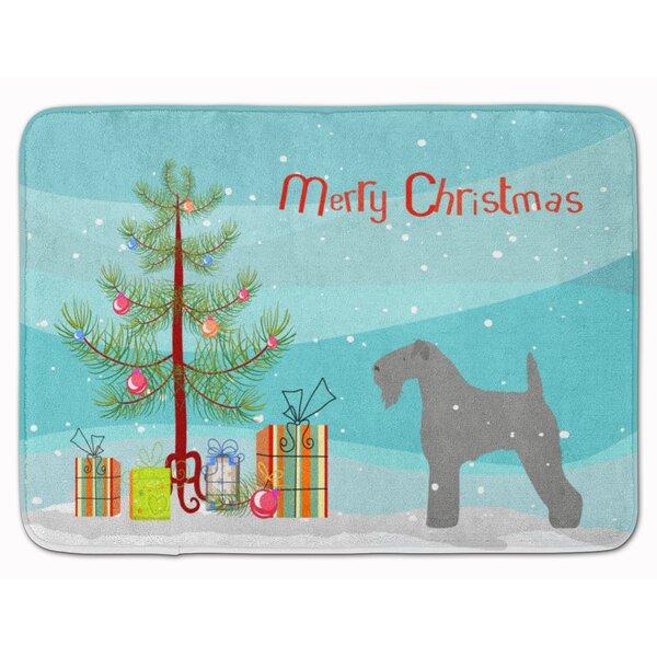 Kerry Blue Terrier Merry Christmas Tree Memory Foam Bath Rug
