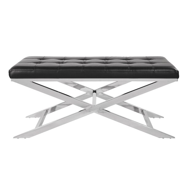 Mader Faux Leather Bench by Orren Ellis