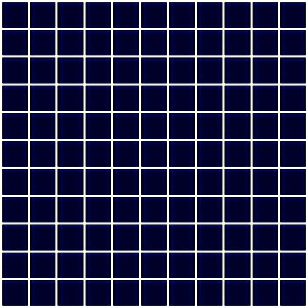 1 x 1 Glass Mosaic Tile in Navy Blue by Susan Jablon