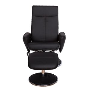 Haverty High Back Manual Swivel Ergonomic Recliner with Ottoman by Ebern Designs
