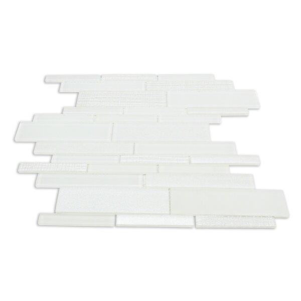 Midtown Sense Random Sized Glass Mosaic Tile in White by Splashback Tile