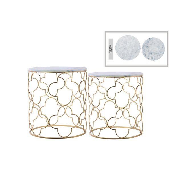 Porthleven Metal 2 Piece Nesting Tables by Everly Quinn