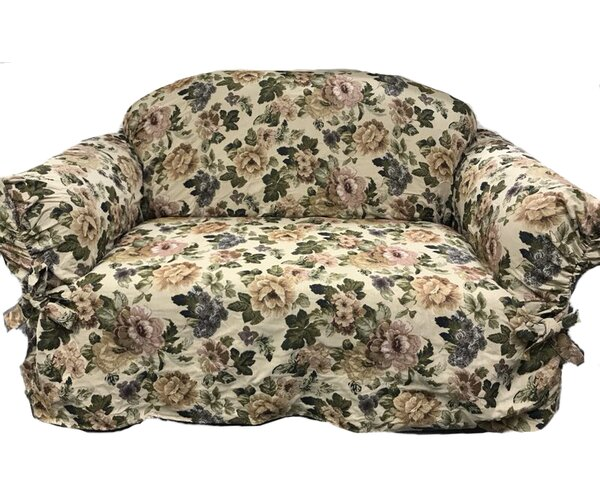 Romance Box Cushion Loveseat Slipcover By August Grove