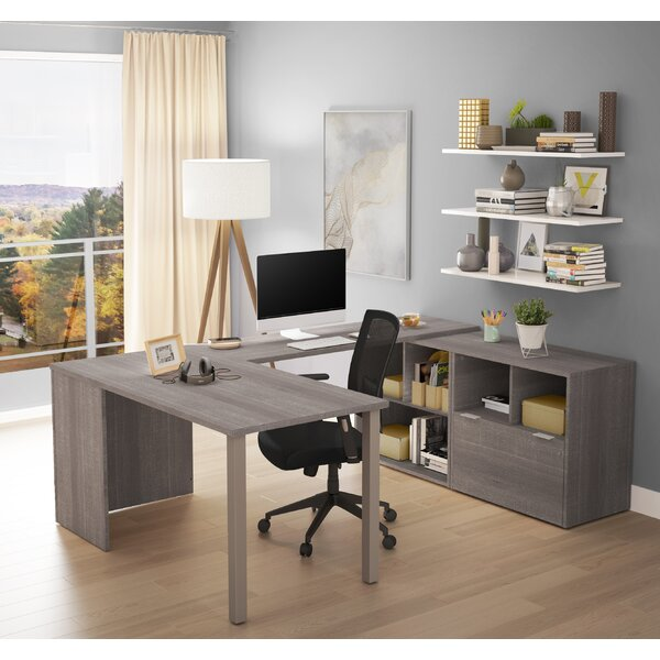 Prattsburgh U-Shape Executive Desk by Brayden Studio