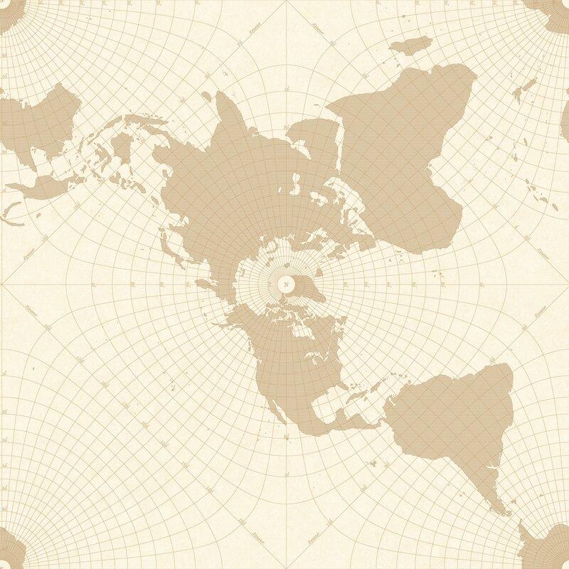 World Menagerie Shepha 33 L X 20 5 W Maritime Map Wallpaper Roll