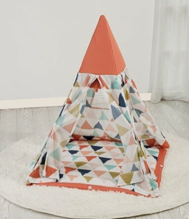 Triangle Print Pop-Up Play Teepee by Asweets