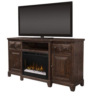 Open Storage 66 TV Stand with Fireplace