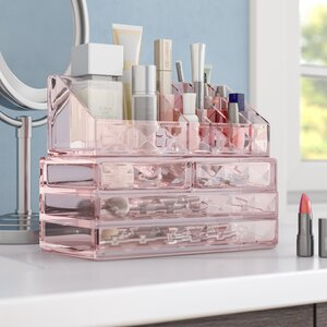 Diamond Pattern Display Cosmetic Organizer