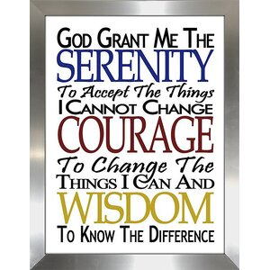 Serenity Prayer Framed Textual Art by Picture Perfect International