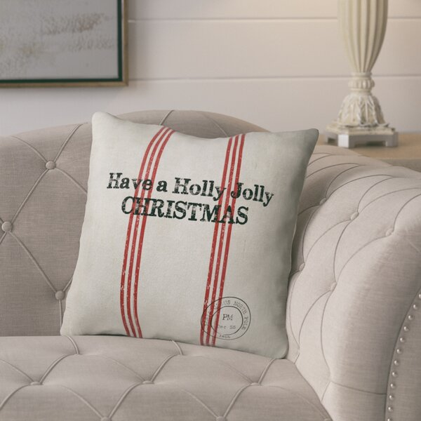 Collins Holly Jolly Christmas Throw Pillow by Laurel Foundry Modern Farmhouse