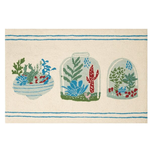 Arboretum Hook Hand-Woven Ivory/Green Area Rug by Bonnie Christine