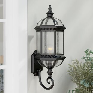 Searching for Hausmann 1-Light Outdoor Wall lantern By Three Posts