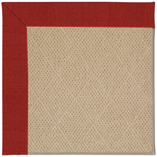 Lisle Machine Tufted Tomatoes and Beige Indoor/Outdoor Area Rug by Longshore Tides