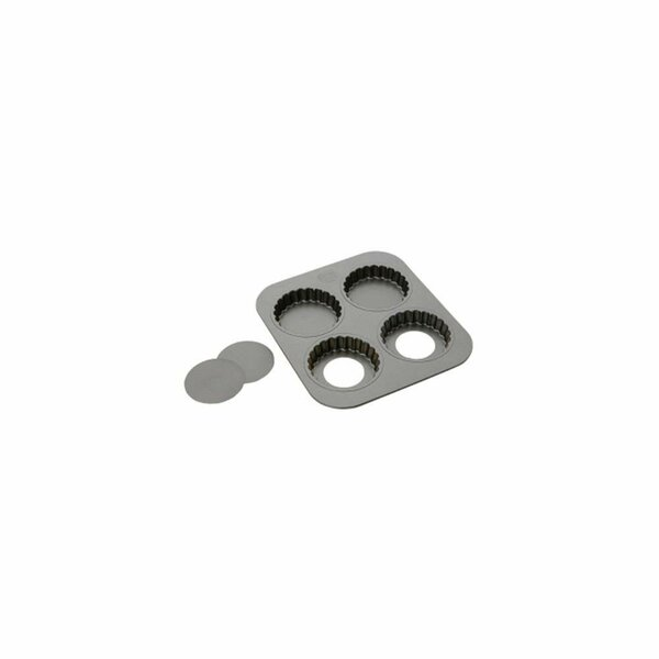 Non-Stick 4 Cup Tart Pan by CROWN BRANDS