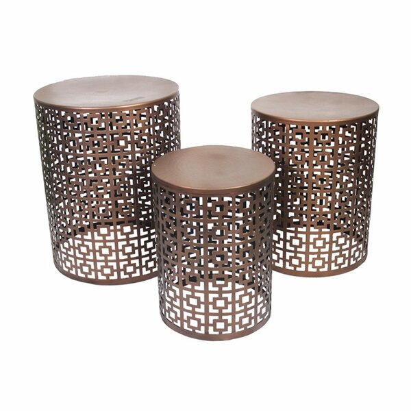 Crabb Classic Round 3 Piece Accent Stool Set by World Menagerie