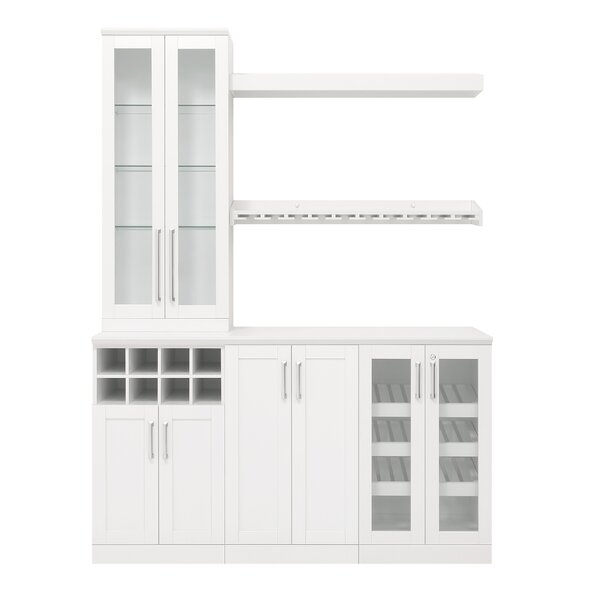 Home Bar 7 Piece Cabinet Set - 21-inch by NewAge Products NewAge Products