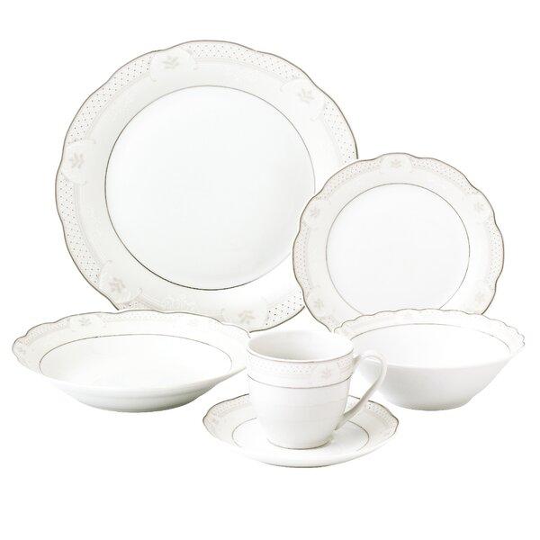 Atara Wavy 24 Piece Dinnerware Set Service for 4 by Lorren Home Trends