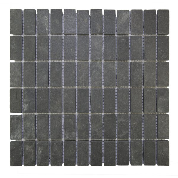 Indonesian Natural Stone Mosaic Tile in Black by Pebble Tile