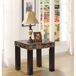 Mccumber Faux Marbelized Granite End Table By Red Barrel Studio