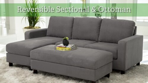 Excellent Askerby Reversible Modular Sectional With Ottoman Pabps2019 Chair Design Images Pabps2019Com