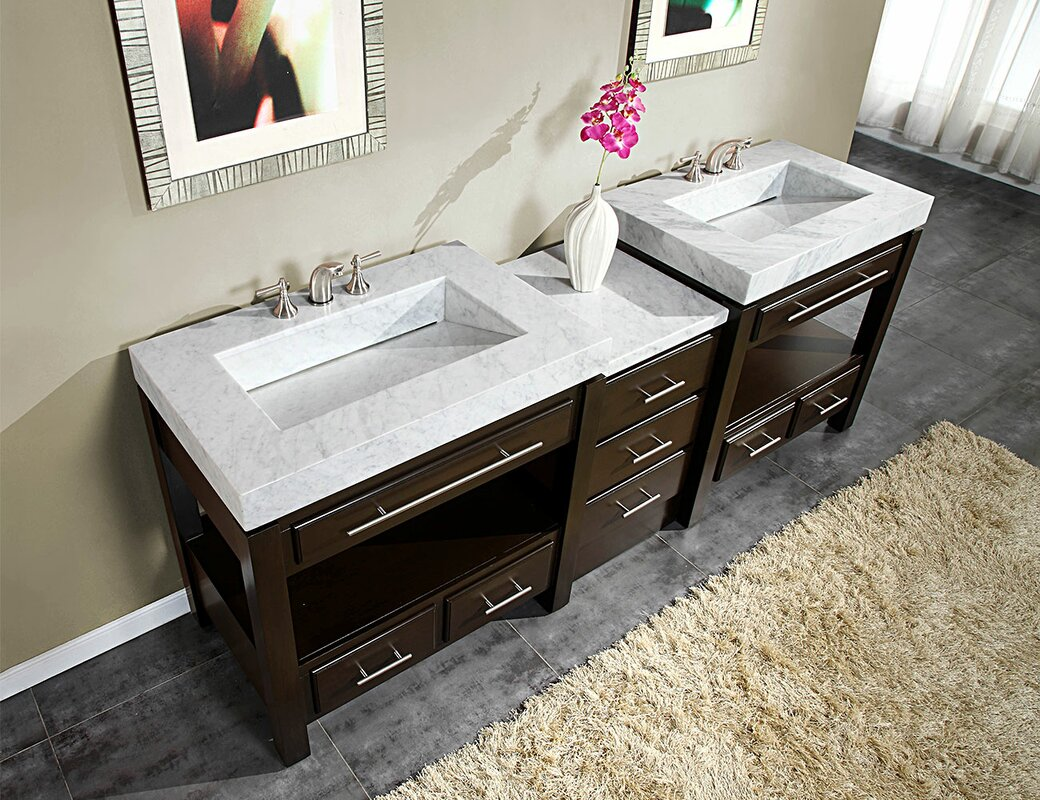 Silkroad Exclusive Stanton 92 Quot Double Bathroom Vanity Set