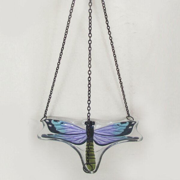 Dragonfly Hanging Birdbath by Continental Art Center