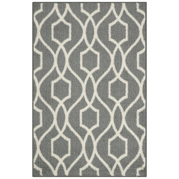 Moffett Gray Area Rug by Highland Dunes