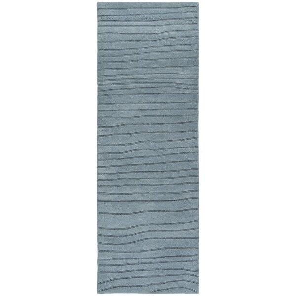 Olea Hand Tufted R Contemporary Blue Area Rug by Corrigan Studio
