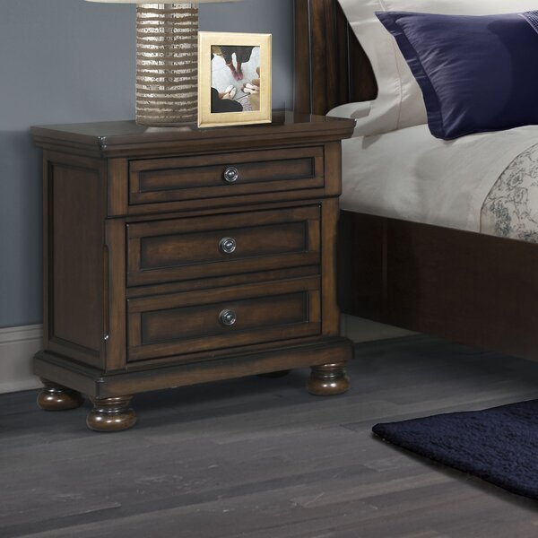 Beadling 3 Drawer Nightstand by Darby Home Co