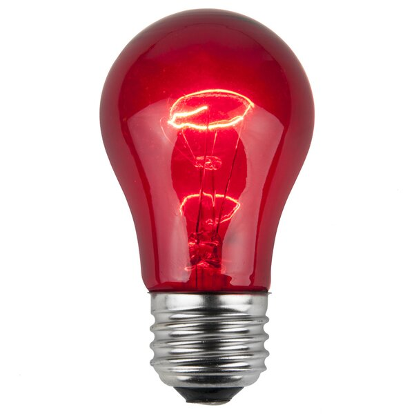 15W Red 130-Volt Light Bulb (Pack of 25) by Wintergreen Lighting