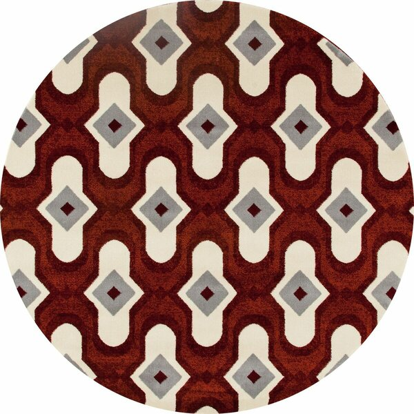 West Hewish Burgundy/Beige Area Rug by George Oliver