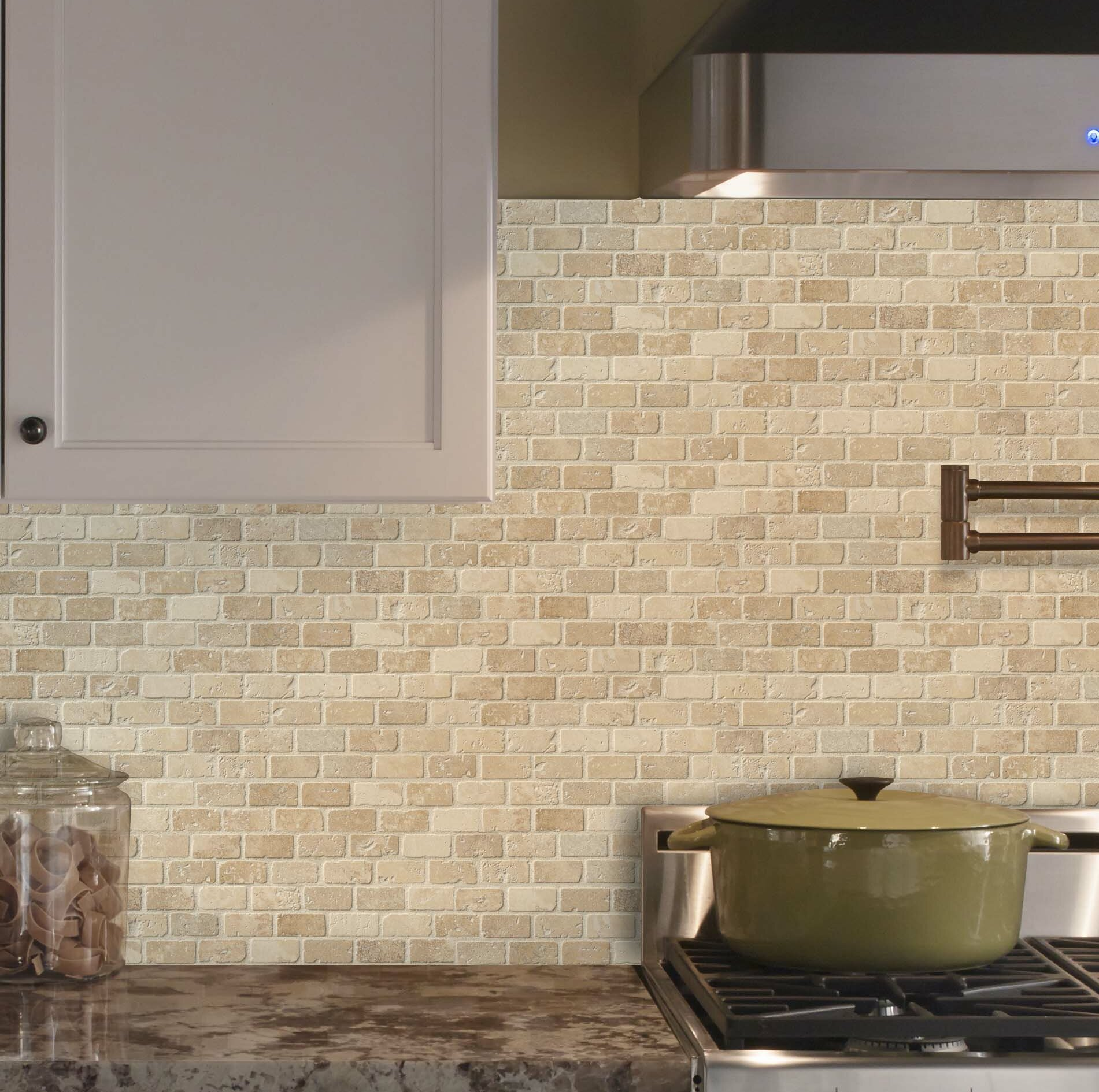 - X 12 In Polished Marble Mesh-Mounted Mosaic Tile Palisandro Mini