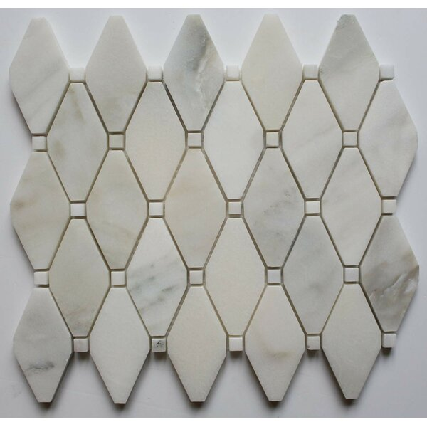 2 x 2 Marble Mosaic Tile in Calacatta Oro by Ephesus Stones