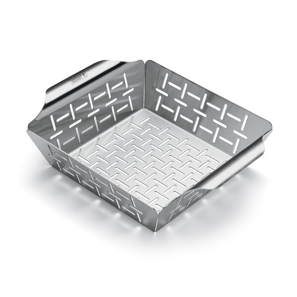 Weber Style Small Stainless Steel Vegetable Basket