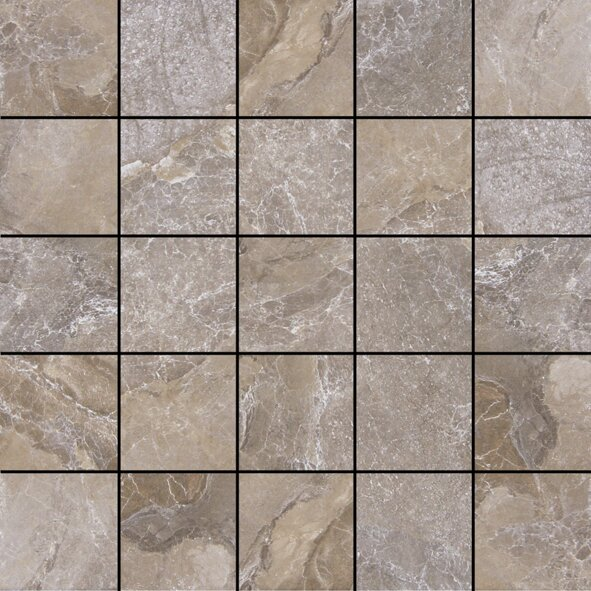 Canyon 13 x 13 Porcelain Mosaic Tile in Marron by Tesoro